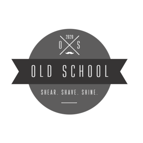 2020, Old School, Shear. Shave. Shine. Logo