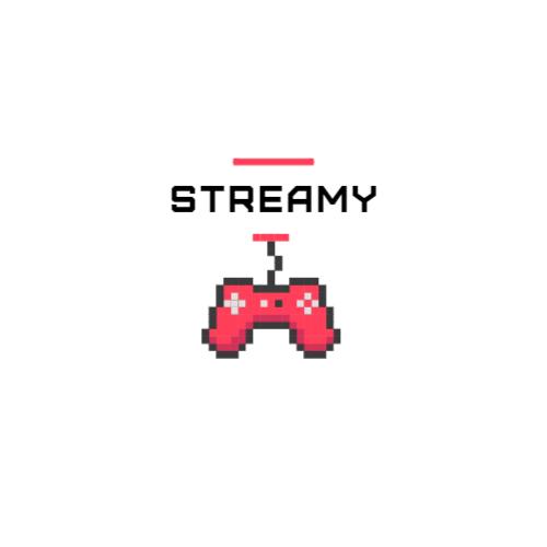 розовый геймпад пиксель арт логотип
