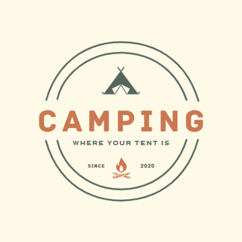Since, 2020, Camping, Where Your Tent Is Logo