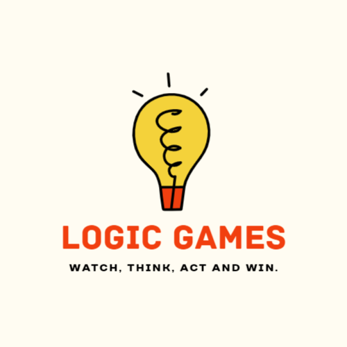 Logic game logo template