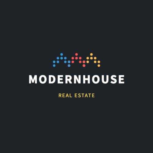 Modernhouse, Real Estate Logo