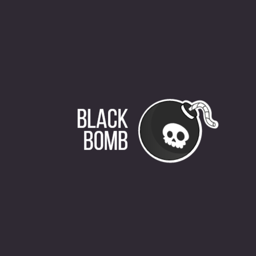 Bomb with Skull logo