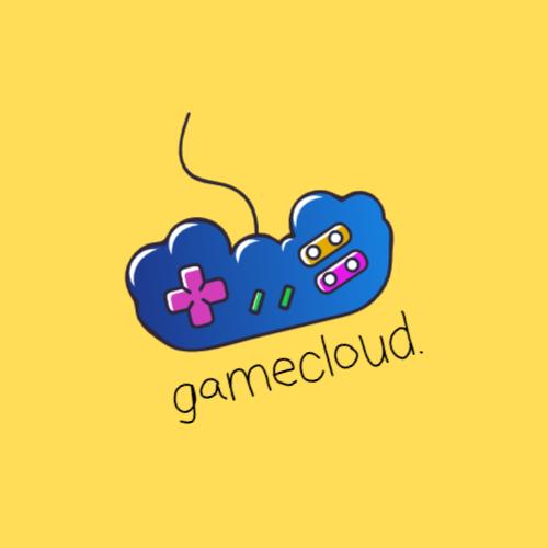 геймпад в форме облака логотип