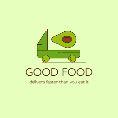 Green Truck & Avocado logo