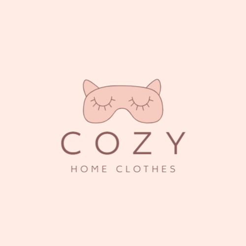 Home clothing store logo template