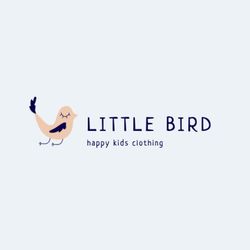 Little Bird, Happy Kids Clothing Logo