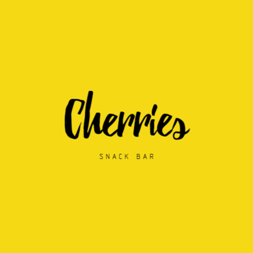 Logo for cafe or restaurant with snacks