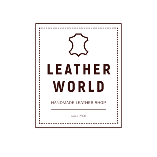 Handmade leather store logo