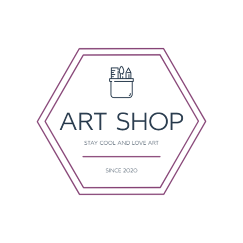 Store with goods for creativity logo