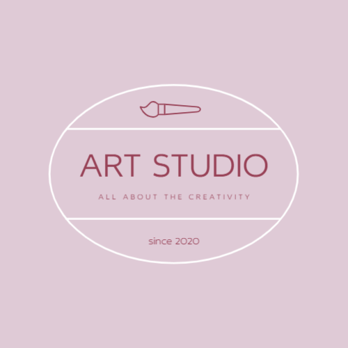 Art studio or drawing logo