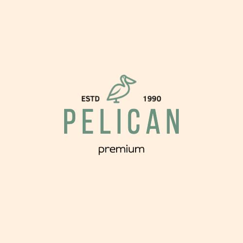 Pelican, Estd, Premium, 1990 Logo