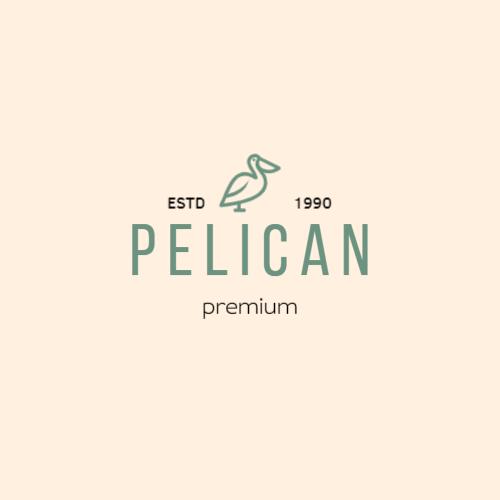 Pelican, Estd, Premium, 1990 Лого