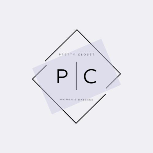 геометрические и буквы p | c логотип