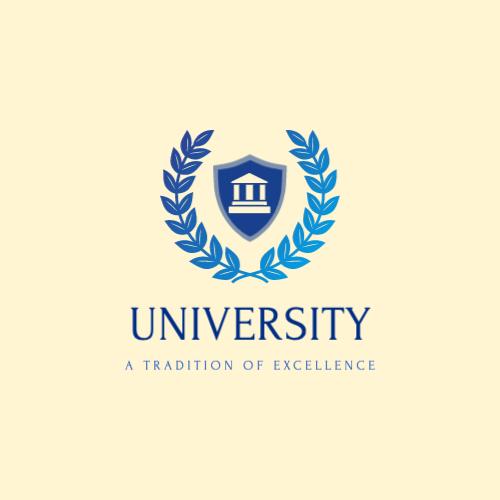 University logo with laurel wreath