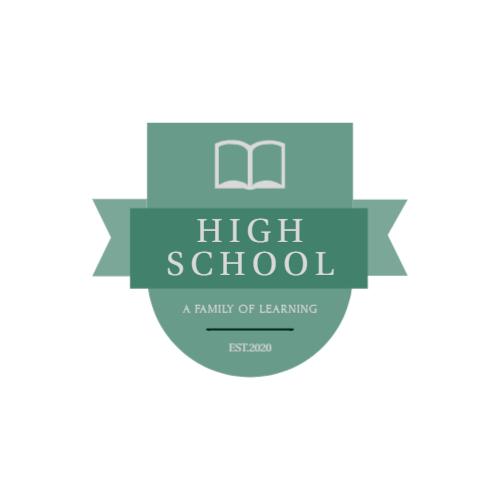 бирюзовый логотип школы книги
