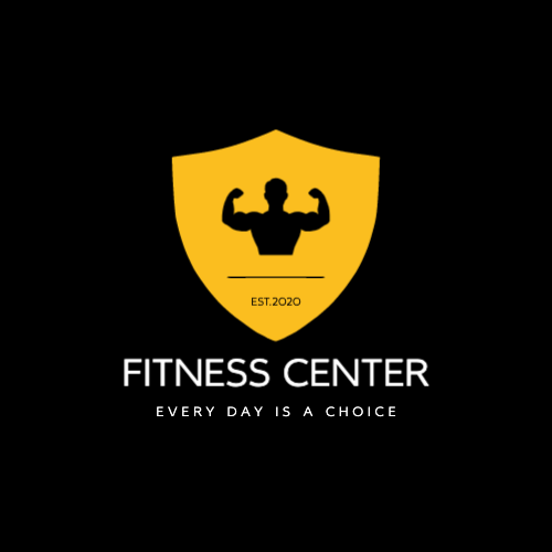 Fitness center logo with shield