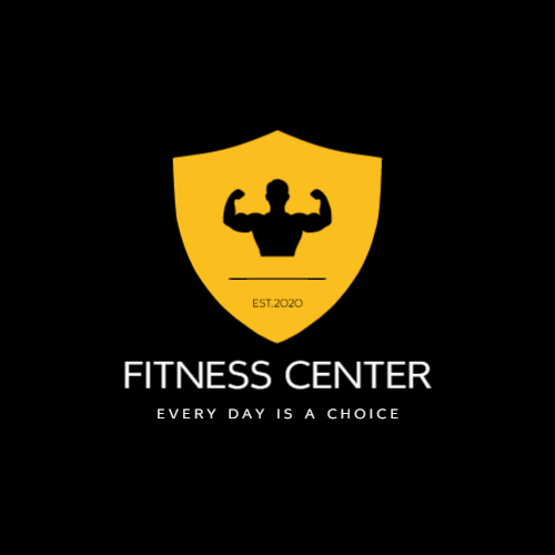 Yellow Shield & Bodybuilder logo