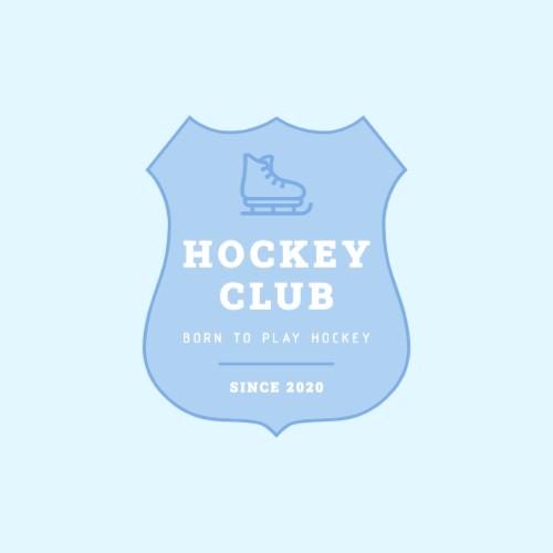 Hockey club logo with shield