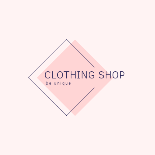 Stylish clothing store logo design