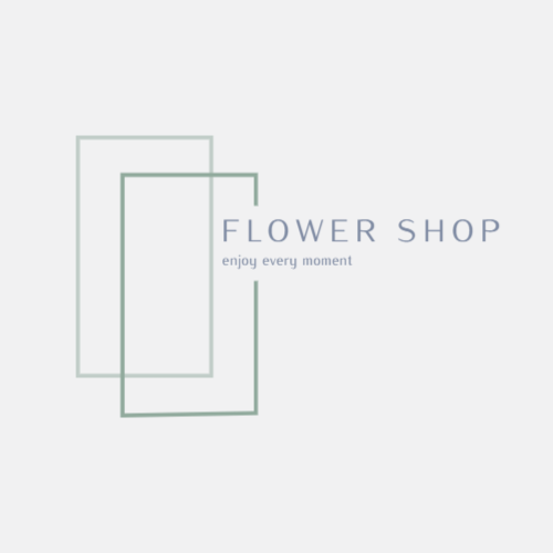 Shop selling flowers logo
