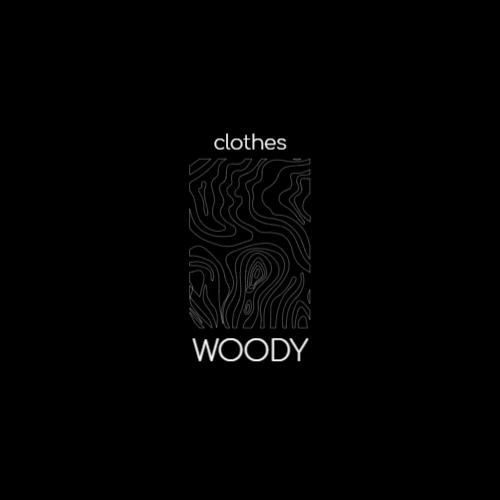 минималистский логотип текстуры древесины