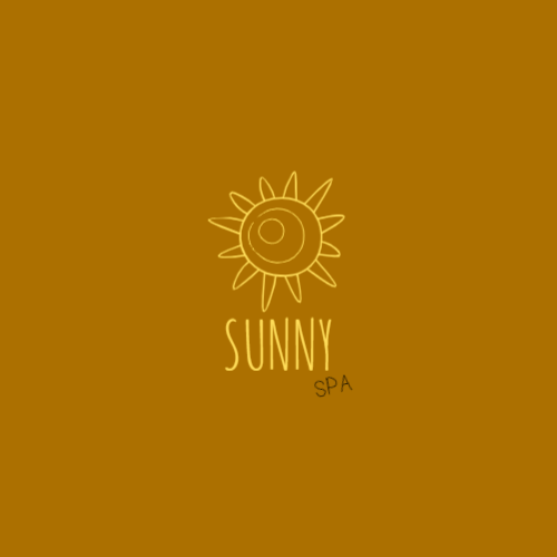 Drawing sun yellow logo