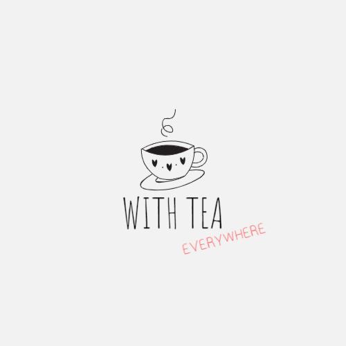 милый чашка чая логотип