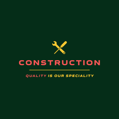 Construction team or building firm logo