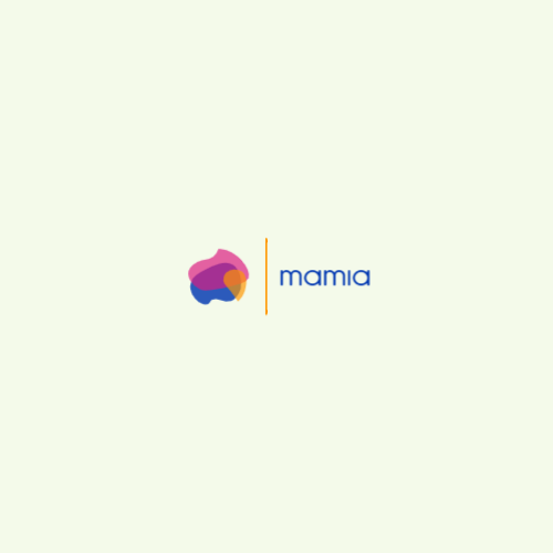 Superimposed color shapes abstract logo