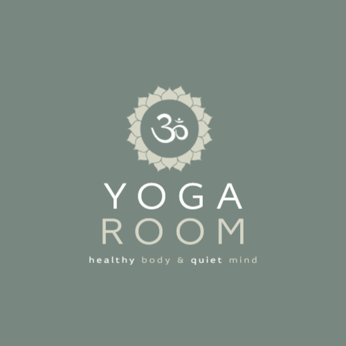 Yoga studio logo with mandala