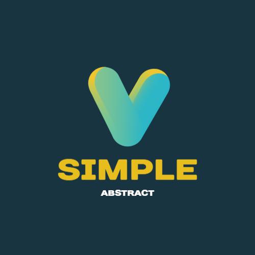 Gradient Letter V logo