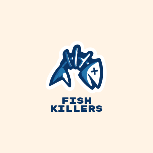 скелет рыбы дизайн логотипа