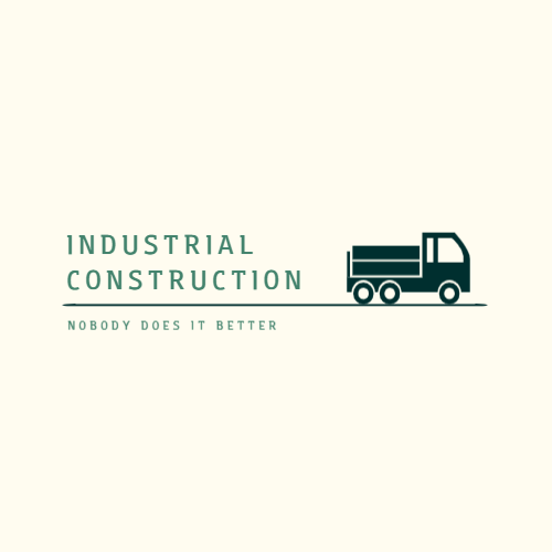 Industrial construction company logo