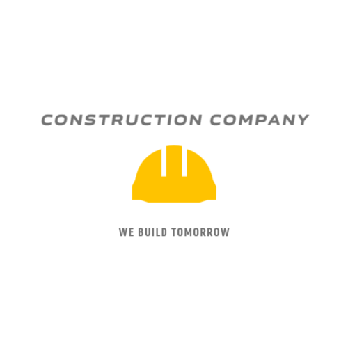 Construction company logo with helmet