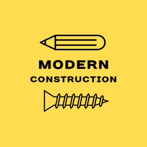 Modern construction firm logo design