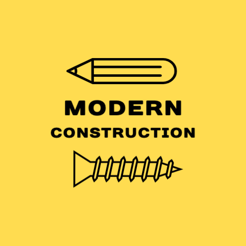 Modern construction firm logo design
