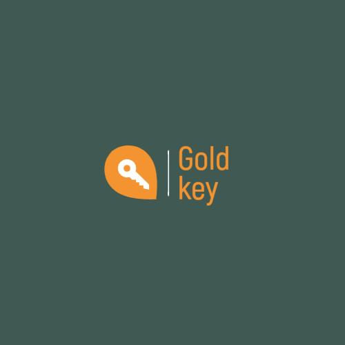 Key in geolocation icon logo