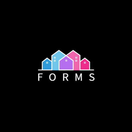 Multicolored Abstract Houses logo