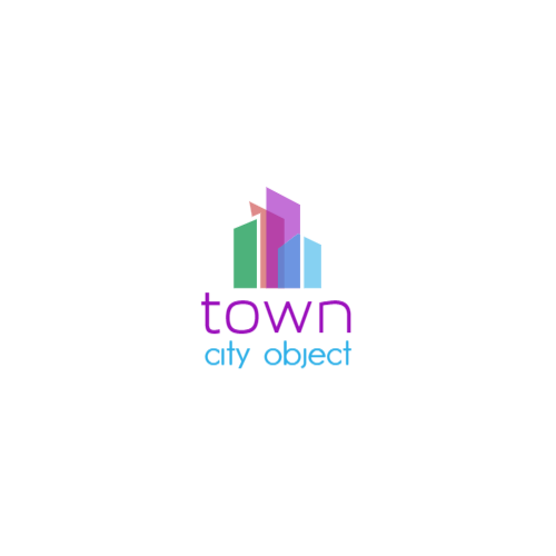 Abstract Colored Buildings logo