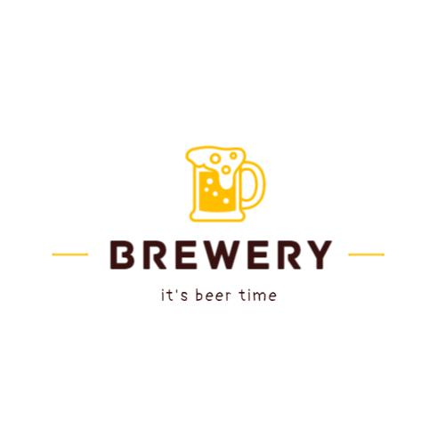 Brewery logo with mug