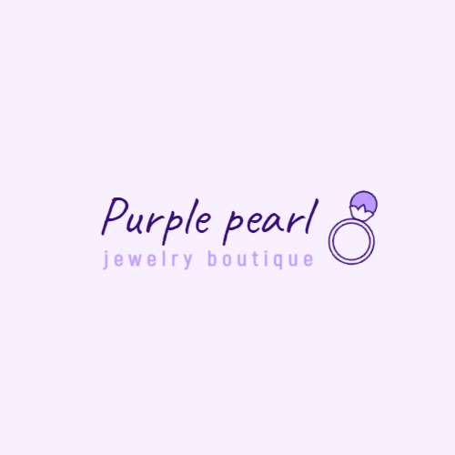 Purple gemstone ring logo