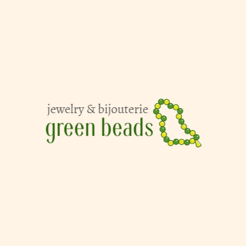 Green beads logo design