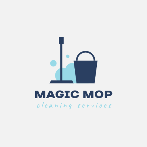 Cleaning company with a mop logo
