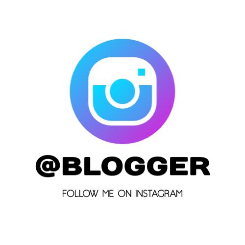 Follow Me On Instagram, @Blogger Logo