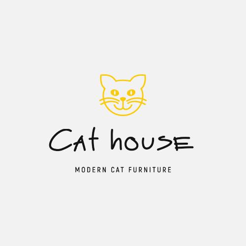 Cat House, Modern Cat Furniture Logo