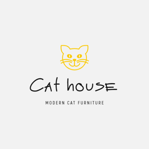 Logo for a modern cat furniture store