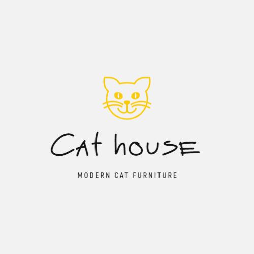 милый кот логотип