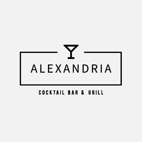Alexandria, Cocktail Bar & Grill Logo