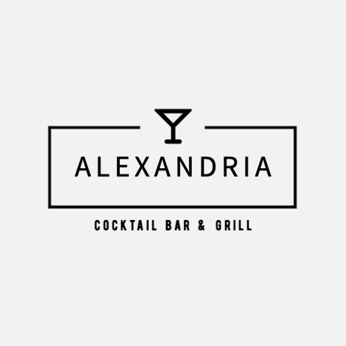 Alexandria, Cocktail Bar & Grill Logo