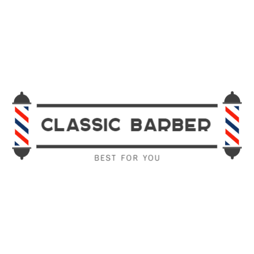 Classic barber shop logo design